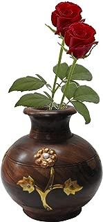 brass flower vase india