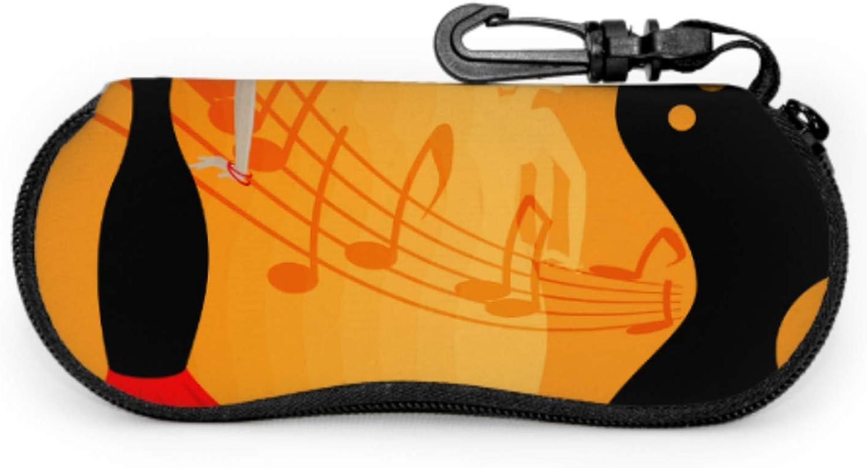 Spanish Flamenco Dancer Best Sunglass Case Youth Sunglasses Case Light Portable Neoprene Zipper Soft Case Case For Eyeglasses
