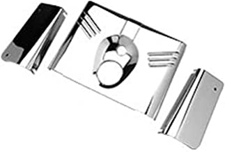 Chrome 5 Piece Fork Headlight Cover Tins Set For Harley Davidson FL Softail 1986-2013