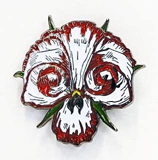 Yesterdays Co Manifest Destiny Skull Flower Pin