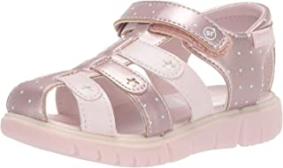 Stride Rite 儿童橄榄色女童可机洗渔夫凉鞋