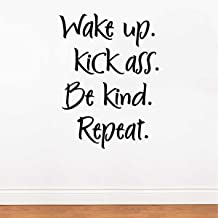 Rawpockets 'Be Kind n Repeat' Wall Sticker (PVC Vinyl, 58 cm x 43cm, Black)