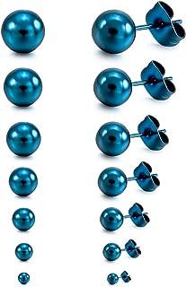1 Bijoux Enfilades de Perles Rond en Turquoise Accessoire Blanc 8mm Dia.