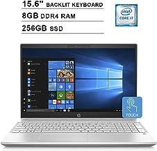 $784 Get HP 2019 Pavilion 15.6 Inch HD Touchscreen Laptop (Intel Quad Core i7-8550U up to 4.0 GHz, 8GB DDR4 RAM, 256GB SSD, Intel UHD Graphics 620, Backlit Keyboard, WiFi, Bluetooth, Windows 10) (Silver)