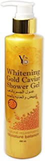 غسول الجسم بالذهب والكافيار لتبييض والعناية بالجسم جل 210 مل من واي سي