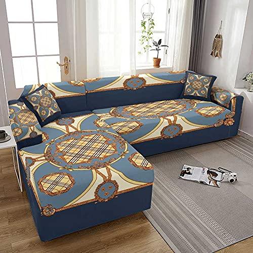 WXQY Coolazy Stretch Plaid Sofa Fundas de sofá elásticas Fundas de sofá para Sala de Estar Sofá Silla Funda de sofá Decoración para el hogar A3 2 plazas