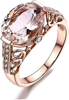 HIRIRI Hot Sale 2018 New Women Jewelry Gift Gemstone Ring Rose Gold Wedding Engagement Ring (8, Rose Gold)