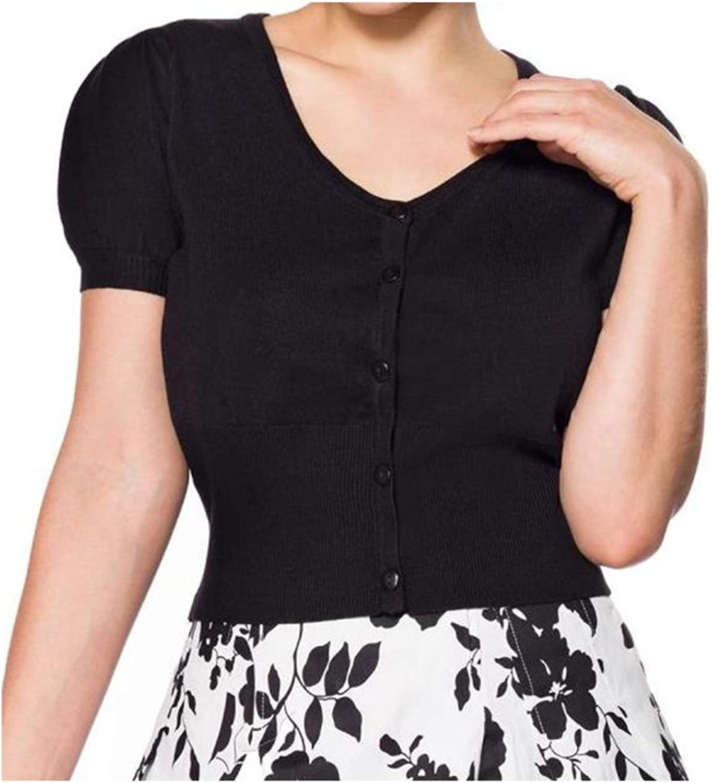 Belsira Ladies Vintage Short Sleeve Cardigan
