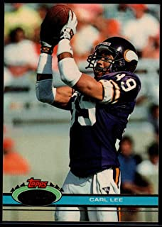 Football NFL 1991 Stadium Club #328 Carl Lee Vikings