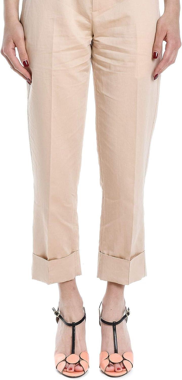 TELA Women's 147801019847H001 Beige Cotton Pants