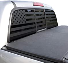 XPLORE OFFROAD - American Flag Truck Decal for Rear Window & Tailgate (Black Die Cut)