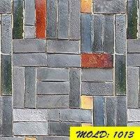 3D壁紙PVCウッドウォールステッカー紙レンガ石の壁紙素朴な効果の自己接着性の壁紙ホームの装飾ステッカーY22 (Color : 1013, Dimensions : 3mx45cm)