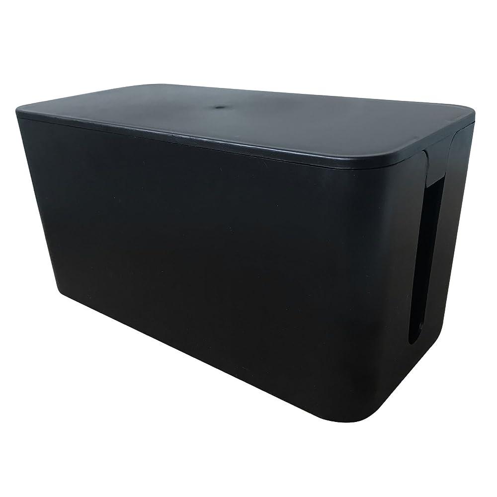 祖母思春期生むSENYON カラー ケーブルボックス 配線 テーブルタップ 整理 (ブラック)