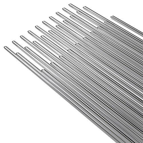 KKmoon 50PCS Alambre de soldadura de aluminio de baja temperatura con núcleo de flujo 2mm * 500mm Al soldar Rod sin necesidad de polvo de soldadura