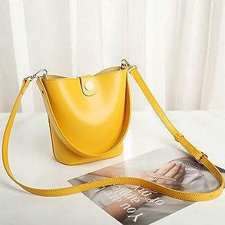 Bucket-style Shoulder Bag Women Casual/Party/Shopping, Wild Sense Of Texture Cikou Messenger Packet 16CM * 11CM * 20CM. jszzz (Color : Yellow)