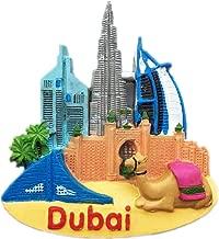 Burj Al Arab Dubai Fridge Magnet World City Resin 3d Strong Souvenir Tourist Gift Chinese Magnet Hand Made Craft Creative Home and Kitchen Decoration Magnetic Sticker (Dubai 4)