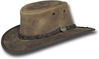 Barmah Hats Foldaway Bronco Leather Hat - Item 1060
