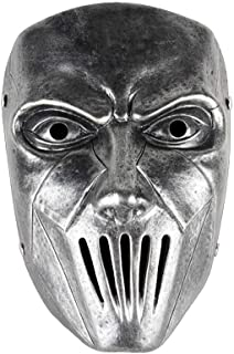 WXYXG Halloween Cosplay Horror Resin Full Face Mask Movie Character Adults Cosplay Costume Props (Color : Silver)