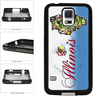 BleuReign(TM) Detailed Illinois Map TPU RUBBER SILICONE Phone Case Back Cover For Samsung Galaxy S5