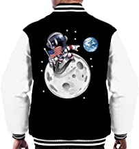 Cloud City 7 Here First USA Astronaut Men's Varsity Jacket