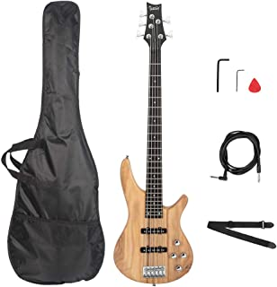 $164 » Tidyard Electric 5 String Bass Guitar Full Size Bag+Strap+Pick Connector+Wrench Tool
