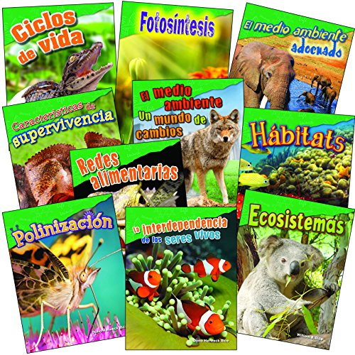 Let's Explore Life Science Grades 2-3 Spanish, 10-Book Set (Science Readers) (Spanish Edition)
