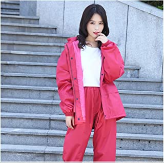 Color : Dark blue, Size : L Guyuan Long Raincoat Conjoined Fashion Adult Men And Women Construction Site Labor Insurance Station Outdoor Climbing Waterproof Zipper Raincoat Lengthened