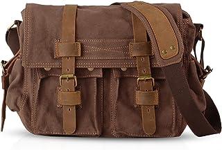 FANDARE Unisex Umhängetasche/Laptoptasche 14 Zoll für Arbeit Herren Messenger Bag Schultertasche Multifunktions Reise Canv...
