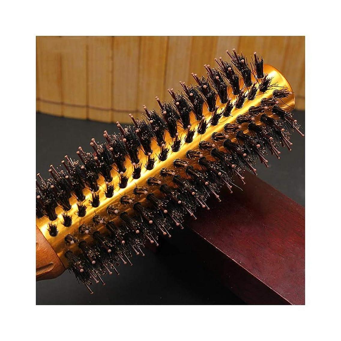 読みやすい予知トリプルWASAIO ヘアブラシブラシラウンドブロー乾燥自然毛スタイリング用ナイロンプロくし (サイズ : S)