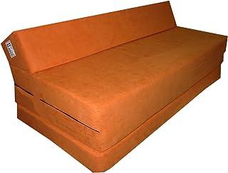 comprar comparacion Natalia Spzoo Colchón plegable cama de invitados forma de sillón sofá de espuma 200 x 120 cm (Naranja 1333)