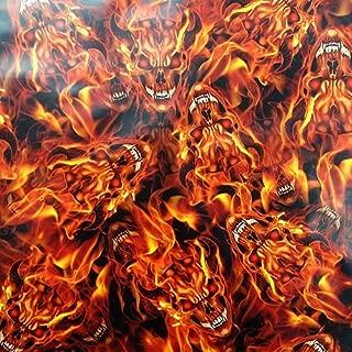 Hydrographic Film - Water Transfer Printing - Hydro Dipping - Flaming Devil Skulls - 1 Sq. Meter