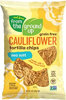 Real Food From The Ground Up Tortilla Chips (6 Pack) (Sea Salt, Cauliflower)