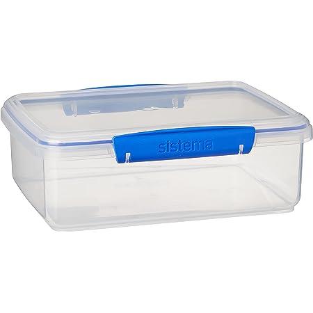 Sistema KLIP IT Boîte de conservation alimentaire avec clips bleus Transparent 2 l