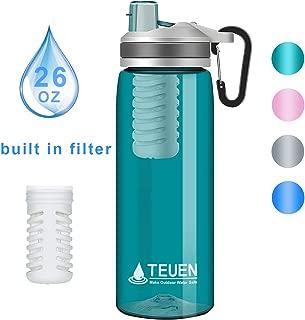 TEUEN Filtro Agua Botella 770ml Filtro Purificador de Agua