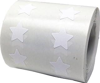Blancas Pegatinas de Estrellas, 13 mm 1/2 Pulgadas Etiquetas 1000 Paquete