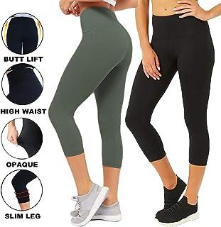 cfb87670cf5 CAMPSNAIL Plus Size High Waisted Leggings for Women Yoga Pants Seamless  Capri Leggings Compression Athletic Workout
