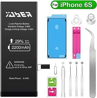 Yaber iPhone6s バッテリー 大容量2200mAh PSEマーク 標準工具セット付き のアイフォン6s バッテリー[2年間の保証]