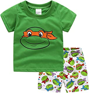 NING Little Boys Short Pajamas Sets Toddler PJS Set Cotton Kids Sleepwears