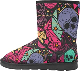 Artsadd Fashion Women's Shoes Horse Abstract High Top Womens Snow Boots