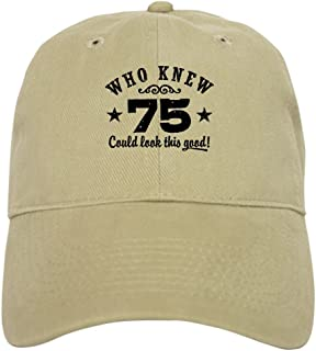 12ec038ef05ed CafePress - Funny 75Th Birthday - Baseball Cap with Adjustable Closure