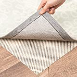 ROSMARUS Non-Slip Area Rug Grippers Pad 3'x5', Extra Thick Rug Pad for Hard Surface Floors, Top Gripper Adds Cushion and Maximum Protection Keep Your Rugs Safe and in Place (3 x 5 Ft)