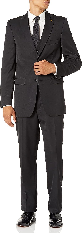 Falcone 3 Pc. Solid Classic Fit Men's Suit