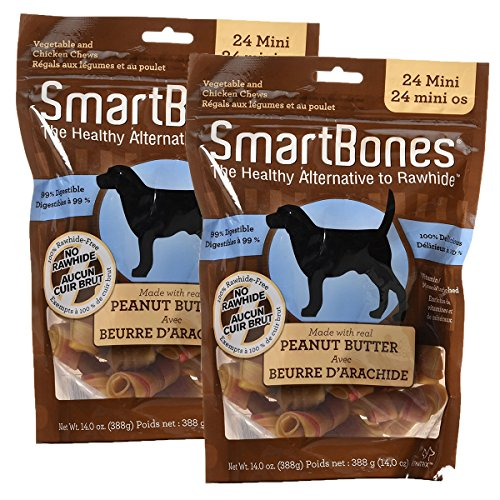 SmartBones Peanut Butter Dog Chew, Mini, 24 pieces/pack