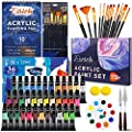 Acrylic Paint Set,75 PCS Professional Painting Supplies with Paint Brushes, Acrylic Paint, Painting Pad, Palette, Paint Knives and Art Sponges for Hobbyists and Beginners