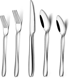 Silverware Set, 40-Piece Flatware Set, Wildone Stainless Steel Tableware Cutlery Set Service for 8, Include Dinner Knives/...