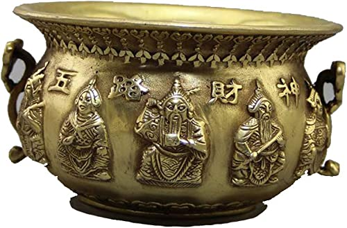 Eqerlian Collection Cornucopia, OrneHommests de cuivre Pur rétro décorations de Bureau à Domicile Fortune Chanceux Feng Shui