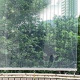 Estor Enrollable Cortina Enrollable para Balcón Exterior Transparente, Persiana Enrollable Impermeable y Resistente Al Aceite para Cocina Oficina, Rodillo para Ventana con Gancho Fijo