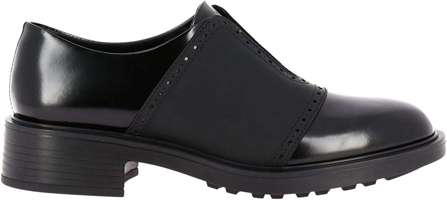 Hogan Women's HXW3320Z100H8HB999 Black Leather Lace-Up shoes