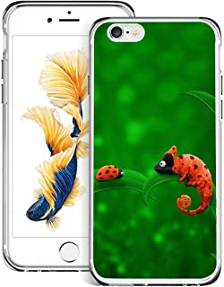 Phone Case for iPhone 6s 6 Chameleon and Ladybird,ChyFS Phone Clear Case,Crystal Protective Case for iPhone 6s 6
