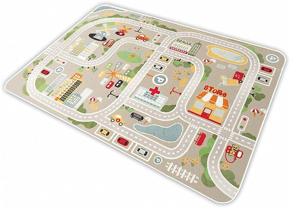 Kid Rug Carpet Playmat for Manufacturer OFFicial store regenerated product Toy Train,Play Cars Area and